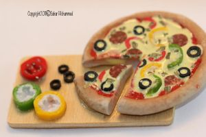 my first pizza by makkahgirl