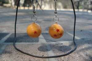 Dragon Ball earrings or pendant by ArtNinja101