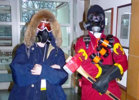 Engineer and Pyro (Setsucon) by fifthdimensional