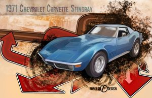 1971 Chevrolet Corvette by foreest83