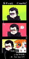 Supernatural Doe eyes Crowley by wonderhell666