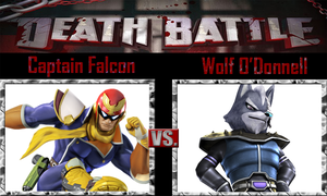 Captain Falcon vs Wolf O'Donnell by SonicPal