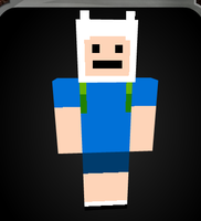 Finn-Adventure time || Skin Minecraft by anewashere
