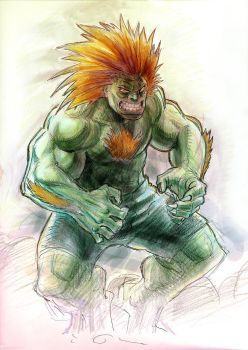 Blanka warmup by KJVallentin