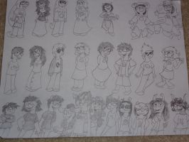 ALL THE HOMESTUCK CHARACTERS! by LowlyWorm