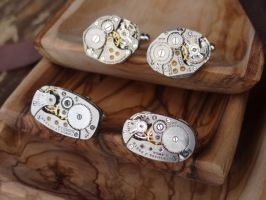 Steampunk cufflinks V by Hiddendemon-666