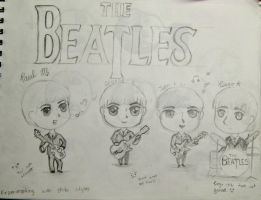 Chibi Beatles by Elizabeth159