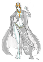 Sketch: Midna by Claymore32