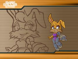 Sonic Battle - Classic Bunnie Rabbot by LeatherRuffian
