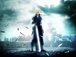 cloud strife wallpaper by finaldreams7