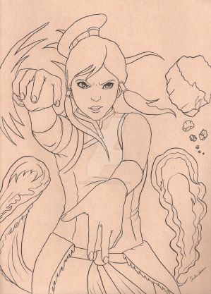 Legend of Korra Lineart