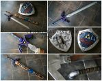Master Sword and Hylian Shield Commission by TerminaCosplay