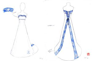Wedding Dress Sketches 4 by winter-fall