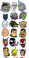 Spidey foes by Eyemelt