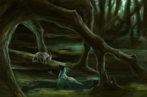 The Unicorn and the Kelpie by Leashe