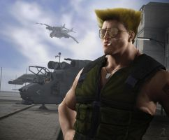 Street Fighter - Guile by RawArt3d