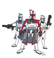 Clone Troopers Cartoon Style by CrashyBandicoot