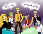 All for one and one for all by Cilou-chan