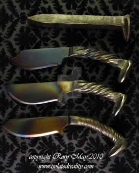 RR spike knives by isolatedreality