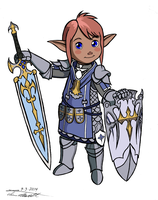 Teon Lalafell (Commission) by Timothius
