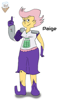 Paige colored sketch (10/18/15) by SnD-Frostey