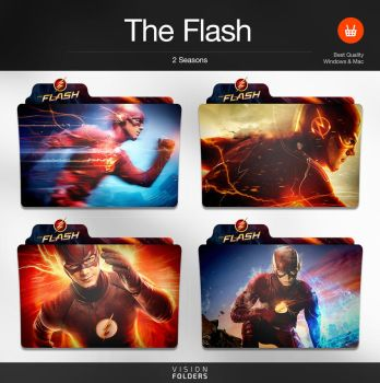 The Flash TV Folders by VisionFolders
