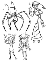 Invader Zim doodles by CrispyCh0colate