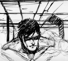 nightwing sketch by GIO2286