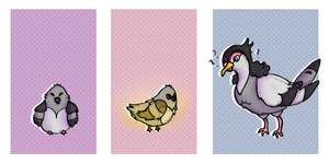 :PG: Evolucion [Pidove] Crap why Im bigger by LunePotter
