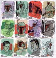 STAR WARS Sketchcards - Boba Fett by DenisM79