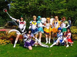 Sailor Moon Group cosplay by tofuhara