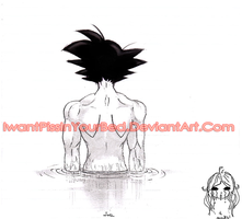 DBZ-Son Goku back- DragonBall by IwannaPissInYourBed