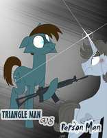 Triangle Man vs. Person Man by MyMineAwesome