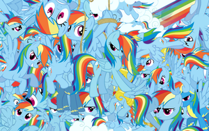 Rainbow Dash explosion wallpaper by Starlyk