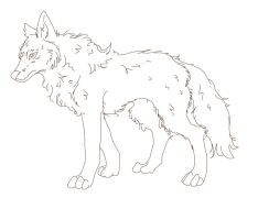 Tribal Wolf Lineart by Annmey