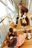 Lizzy and Ciel Cosplay by CocaBeliLight