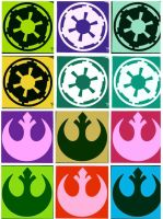The Empire and Rebel Alliance pop art by DevintheCool