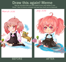 Draw this again Meme (chibi) by KyouKaraa