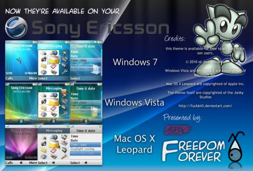 Sony Ericsson Theme of 3 OS by fuck643