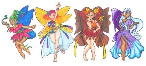 Commish _ Fairies of the Seasons by Tanis711
