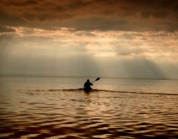 Lone Rower by Minilily