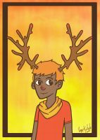 Sunset Antlers by zigidity