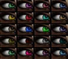 Eye colours by Sandybelle