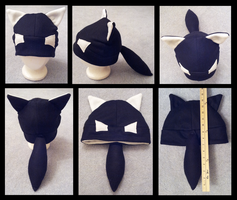 Black Wolf Hat Commission by OllyChimera