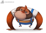 Daily Painting #866. Lanky Kong by Cryptid-Creations