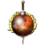 Steampunk Mars with Sword Icon by yereverluvinuncleber