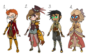 Steampunk Adopts  by teacozy1