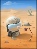 The Journey Continues in the Desert by Patriartis
