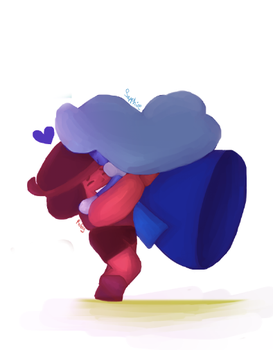 Art Dump - Ruby and Sapphire by SQUIRRELPEE