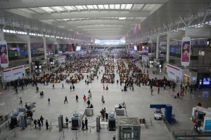 Shanghai Train Station by Amarganth